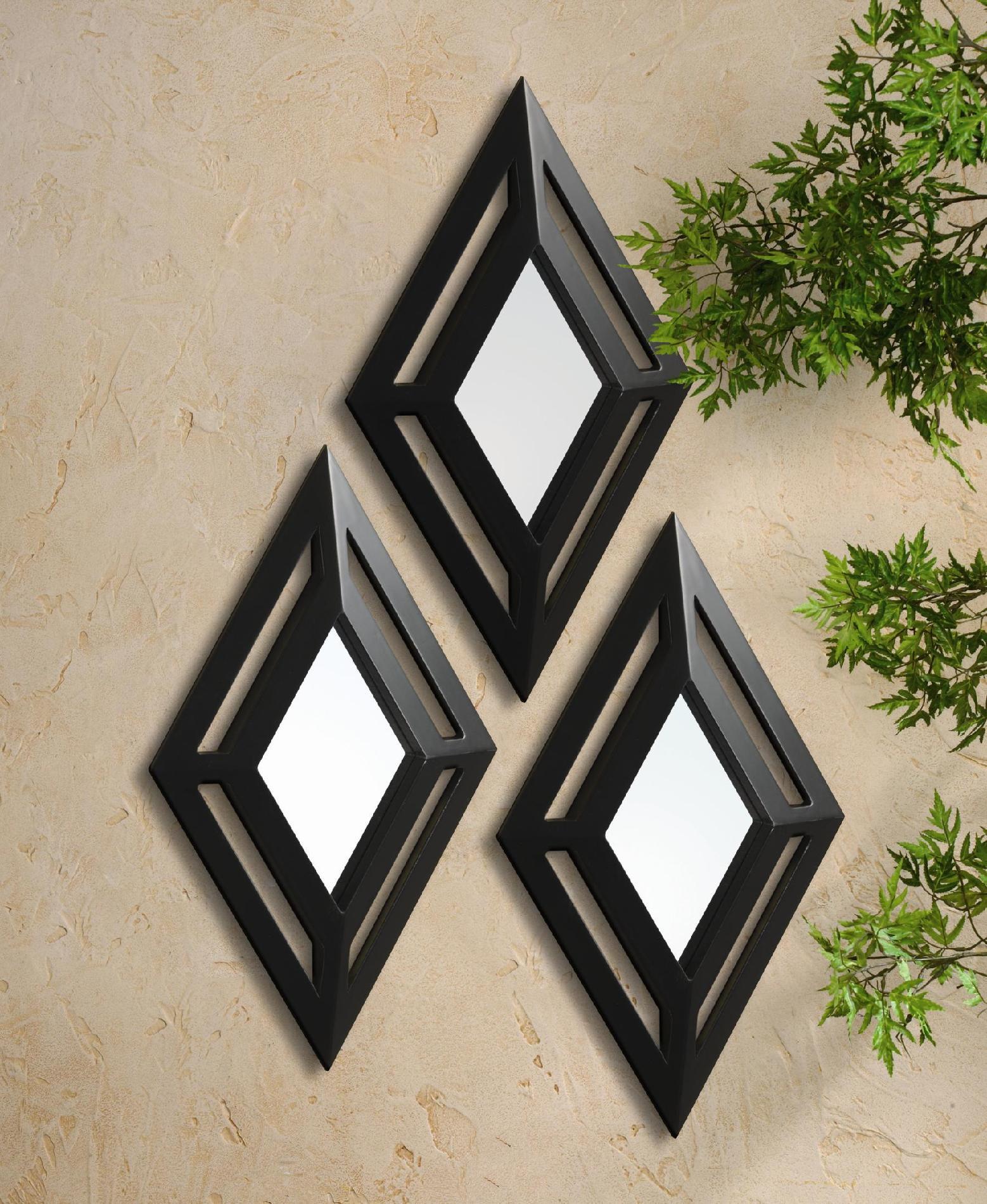 Elements 3 Piece Diamond Mirror Set Home Home Decor
