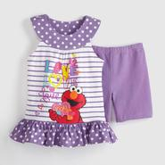 Sesame Street Elmo Infant Girl's Tunic & Shorts - Love at Kmart.com