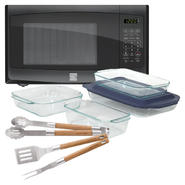 Kenmore Countertop Microwave with Kitchen Utensils & ...