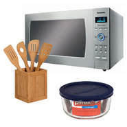 Panasonic Countertop Microwave with Kitchen Utensils ...