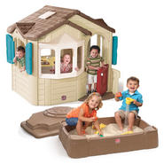 Step 2 Naturally Playful Welcome Home Playhouse & Sandbox Bundle at Sears.com