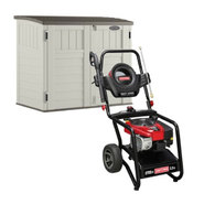 Craftsman Utility Shed with Pressure Washer Bundle   ...