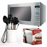 Panasonic Full-Size Countertop Microwave with Kitchen Utensil & Food Storage Bundle at Kmart.com