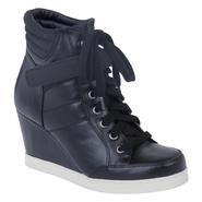 Bongo Women's High Top Wedge Delancey- Black at Kmart.com