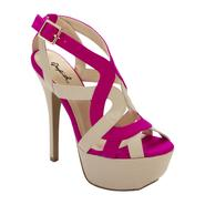 Qupid Women's Dress Sandal Koy-11 - Tan/Pink at Kmart.com