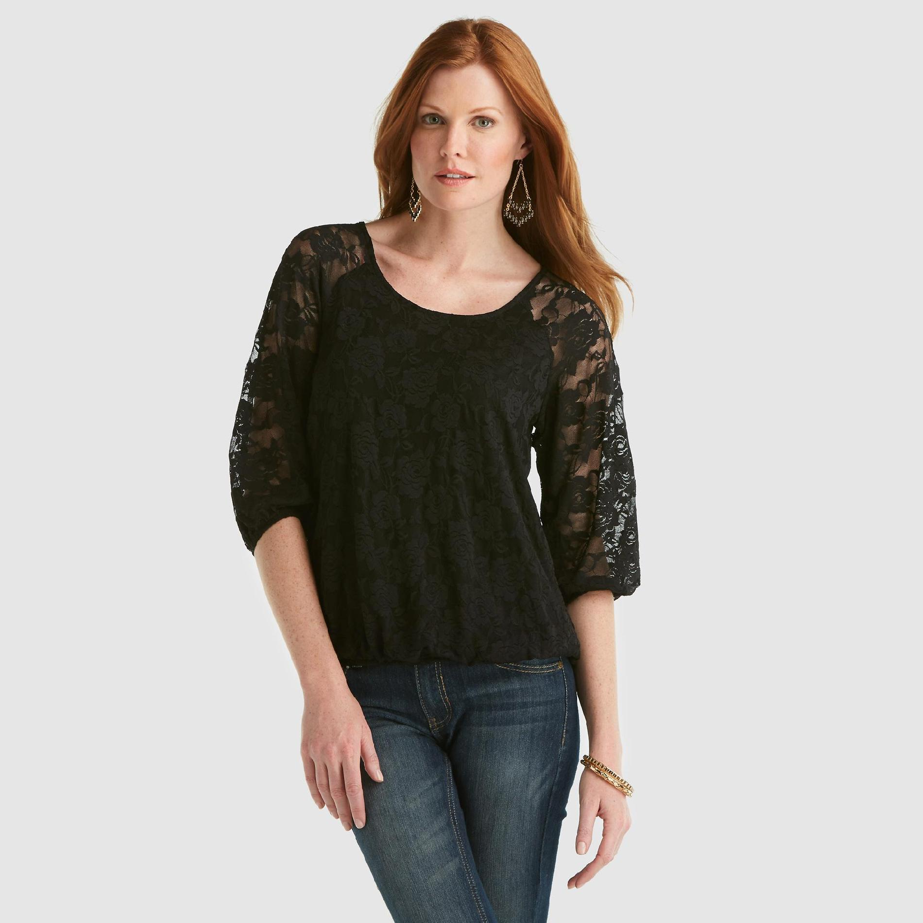Metaphor Women's Lace-Sleeve Blouse at Sears.com