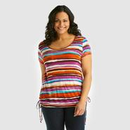 Beverly Drive Women's Plus Shirt - Striped at Sears.com