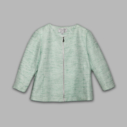 Jaclyn Smith Women's Zippered Tweed Jacket at Kmart.com