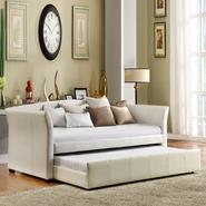 Oxford Creek Flare Arms Daybed with Trundle in White at Sears.com