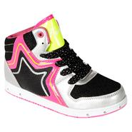 Adagio Girl's Sneaker Rock Star Pastry Hi Top - Black/Silver at Kmart.com