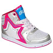Adagio Girl's Sneaker Rock Star - Silver/White at Kmart.com