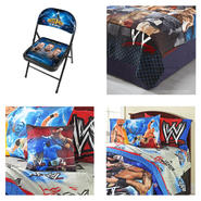 WWE Ultimate Fan Bedding and Chair Bundle            ...