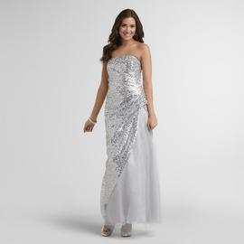 Jump Apparel Junior's Strapless Prom Dress - Sequins at Sears.com