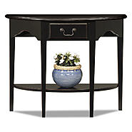 Leick Demilune Console Table - Slate Black at Kmart.com