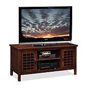 "Leick Riley Holliday Grid Black Glass, 50""W TV Stand - Chocolate Cherry at Sears.com"