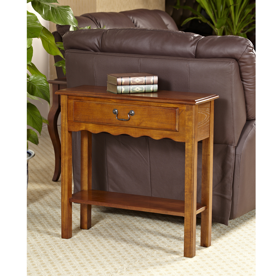 Leick Wave Small Console Table-Medium finish