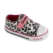 Skechers Toddler Girl's Twinkle Toes Shuffles Lil Wild Sneaker - Pink/Animal at Sears.com