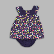 Small Wonders Newborn Girl's Flutter Sleeve Button Front Dawning Sky Dress at Kmart.com