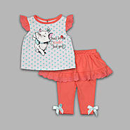 Disney Baby Newborn Girl's 2 Pc Top and Leggings Marie Set at Kmart.com