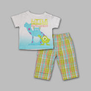 Disney Baby Newborn Boy's 2 Pc Graphic Tee and Pants Monsters Inc. Set at Kmart.com