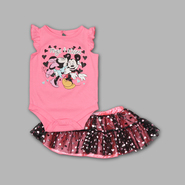 Disney Baby Newborn Girl's 2 Pc Bodysuit and Skirt Mickey and Minnie Set at Kmart.com