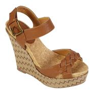 Qupid Women's Connect-14 Platform Wedge Sandal - Tan at Kmart.com