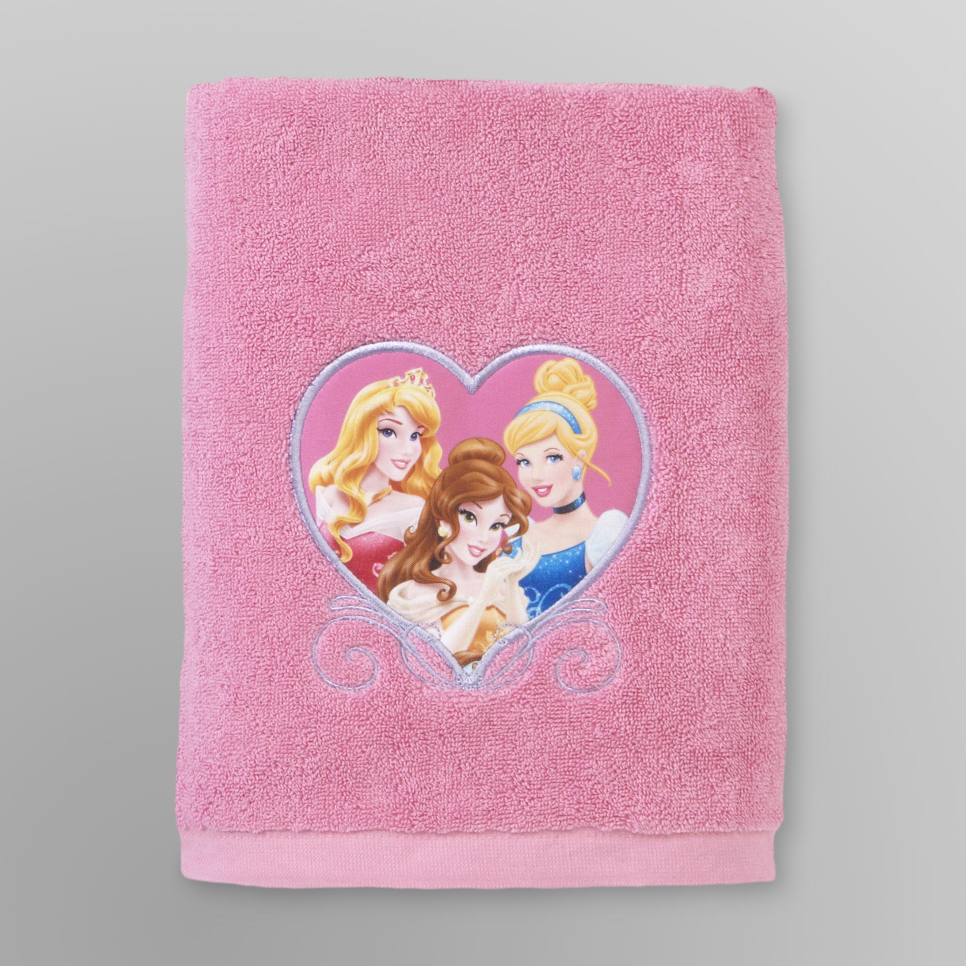 Disney Princess Girls Bath Towel Pink