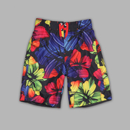Joe Boxer Boy's Multicolor Hibiscus Print Swim Trunks at Kmart.com