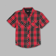 Genuine Dickies Boy's Short Sleeve Plaid Button-front Shirt at Kmart.com