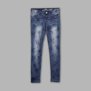 Almost Famous Juniors' Tonal Denim Floral Skinny Jeans at Sears.com