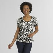 Jaclyn Smith Women's Textured T-Shirt - Tribal Print at Kmart.com