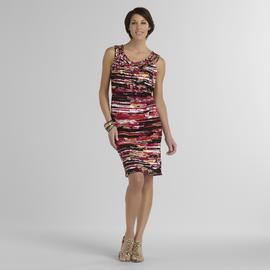 Jaclyn Smith Women's Sleeveless Dress - Stripes at Kmart.com
