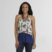Canyon River Blues Women's Tiered Tank Top - Floral/Polka Dot at Kmart.com