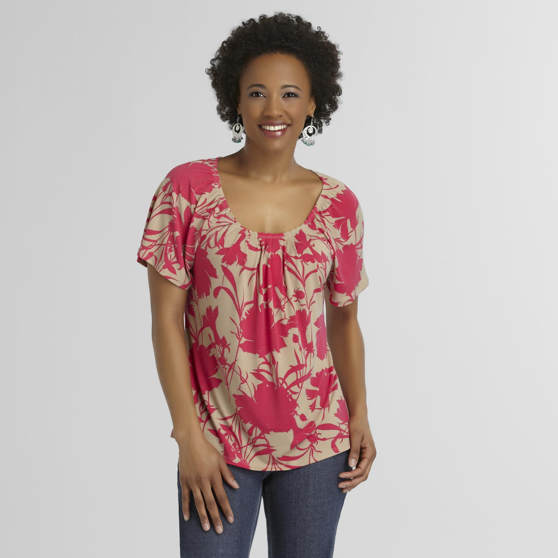 Jaclyn Smith Women's Peasant Blouse - Tropical at Kmart.com