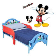 Disney Mickey Mouse Toddler Bed and Wall Decals Bundle at Kmart.com