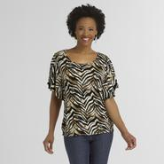 Jaclyn Smith Women's Angel Top - Tiger Stripes at Kmart.com