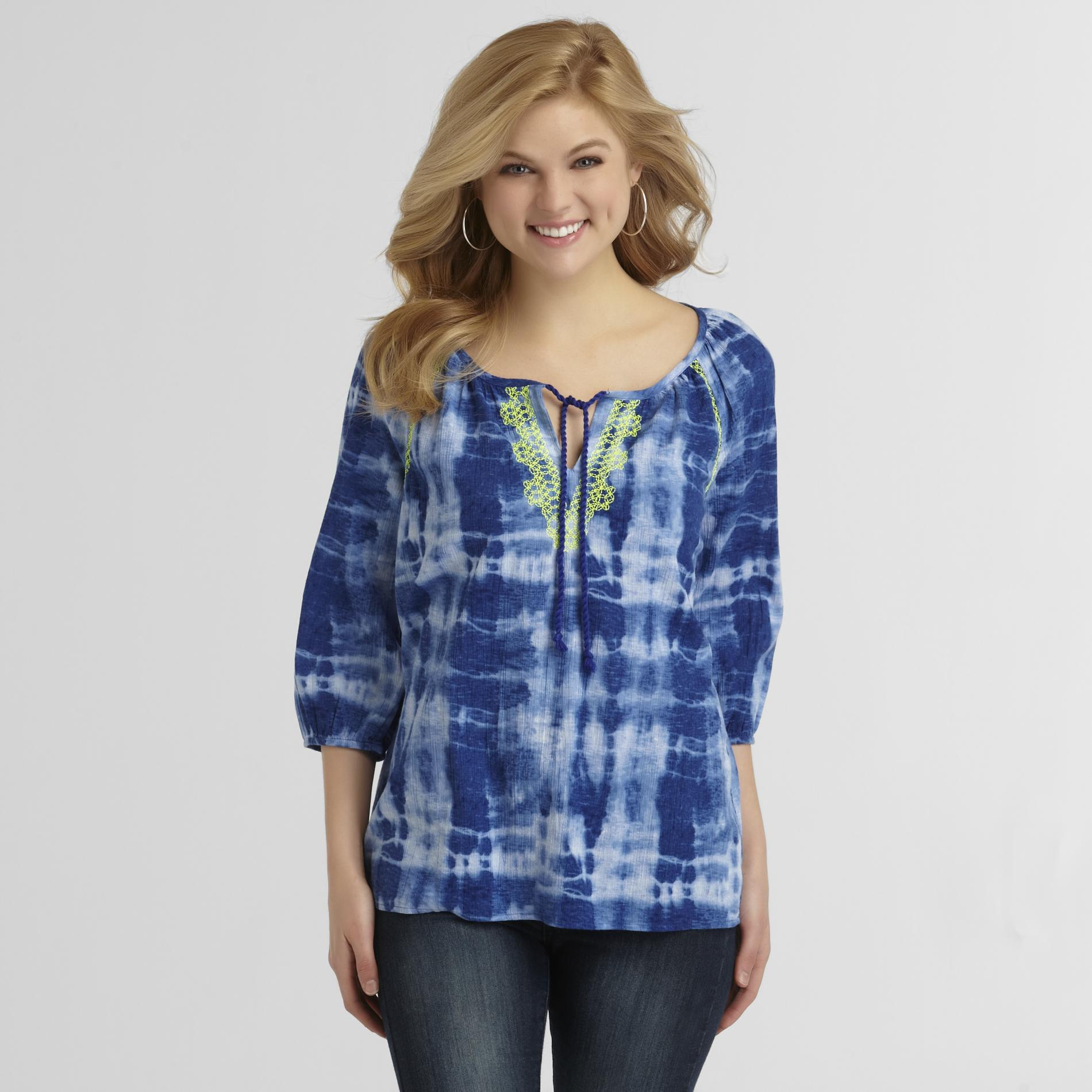 Route 66 Women's Peasant Top - Tie-Dye at Kmart.com