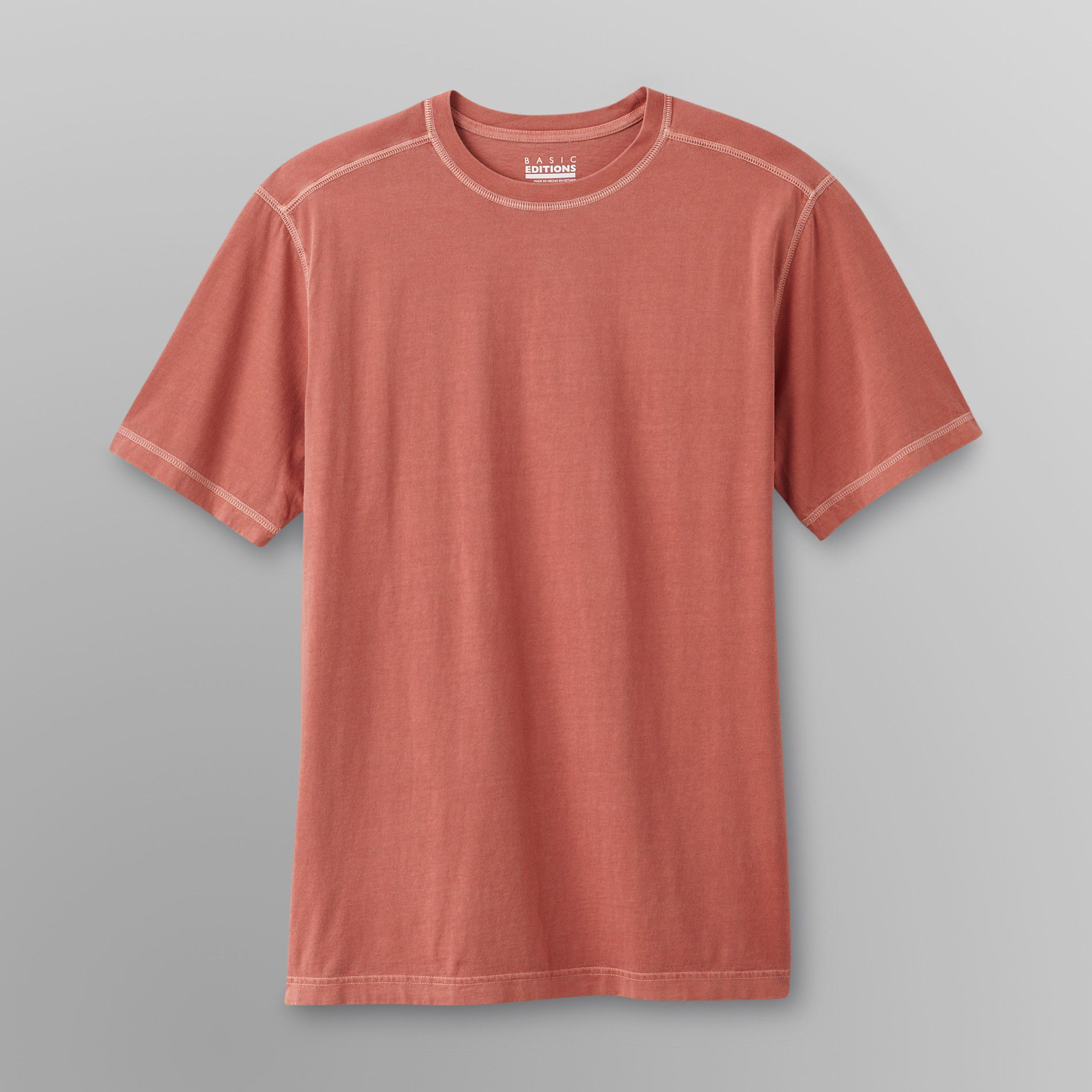 Men's Exposed-Stitch T-Shirt