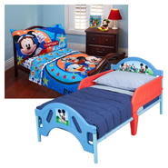 Disney's Mickey Mouse Toddler Bed & Bedding Set Bundle at Kmart.com