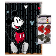 Disney Mickey Mouse Shower Curtain & Shower Hooks Bath Bundle at Kmart.com