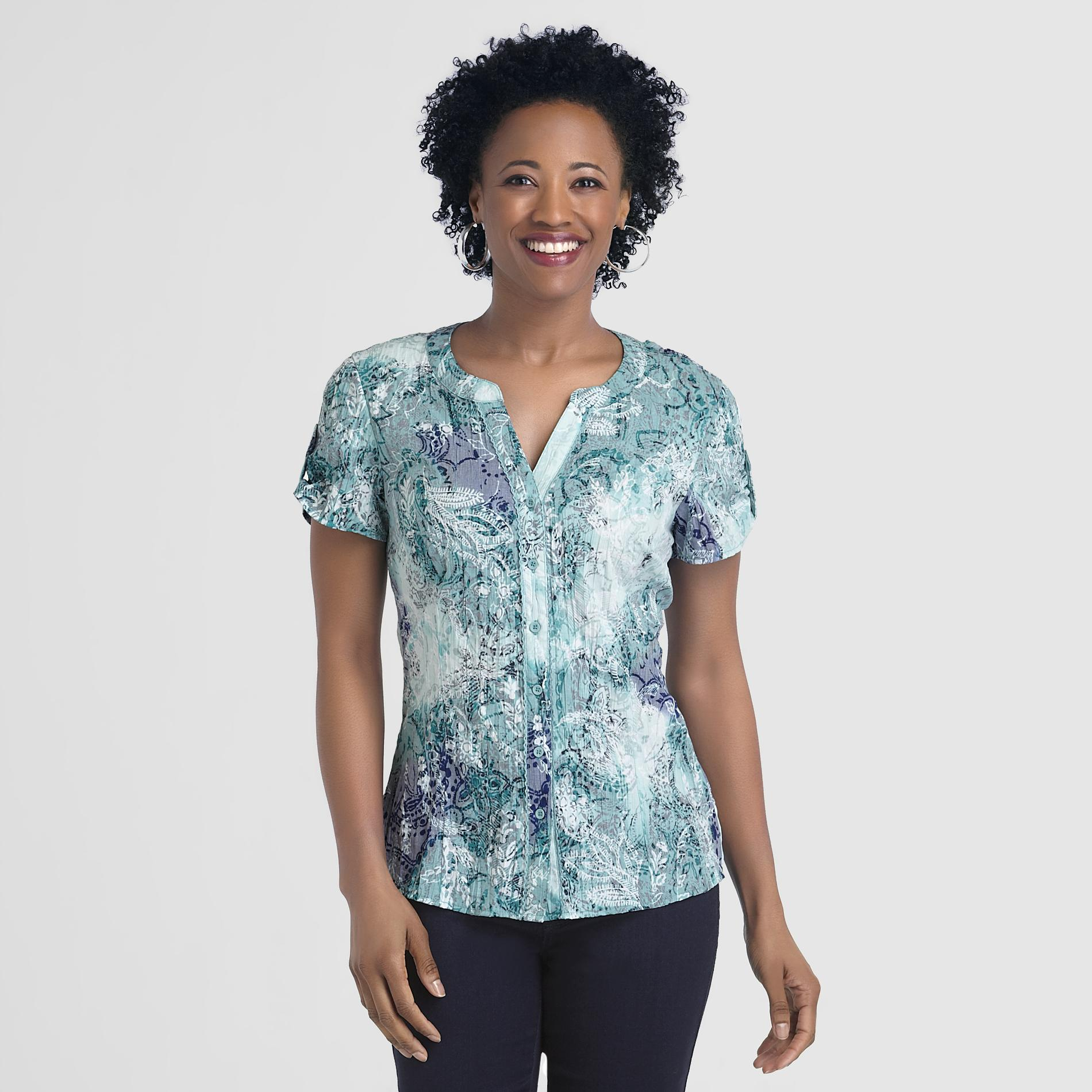 Laura Scott Women's Crinkled Top - Paisley at Sears.com