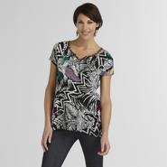 Jaclyn Smith Women's Beaded Crepe Top - Jungle Print at Kmart.com