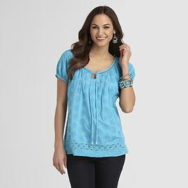Gloria Vanderbilt Women's Peasant Blouse - Embroidered at Sears.com