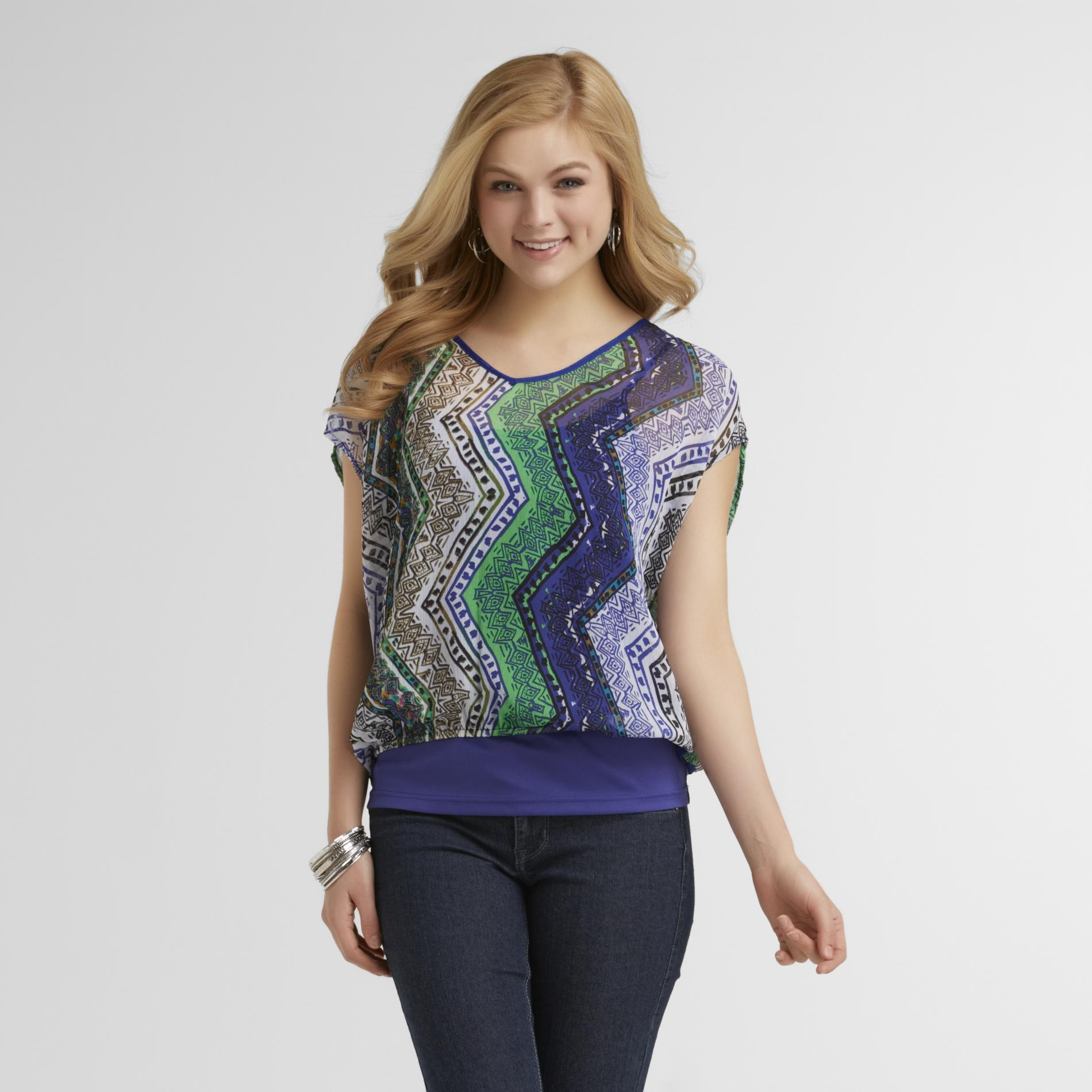 Route 66 Women's Cami & Cutout Top - Tribal Print at Kmart.com
