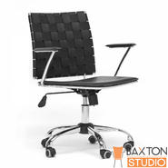 Baxton Vittoria Black Leather Modern Office Chair at Sears.com
