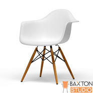 "Baxton 30.5""H x 24""W x 24""D Plastic Club Chair Set - White at Kmart.com"