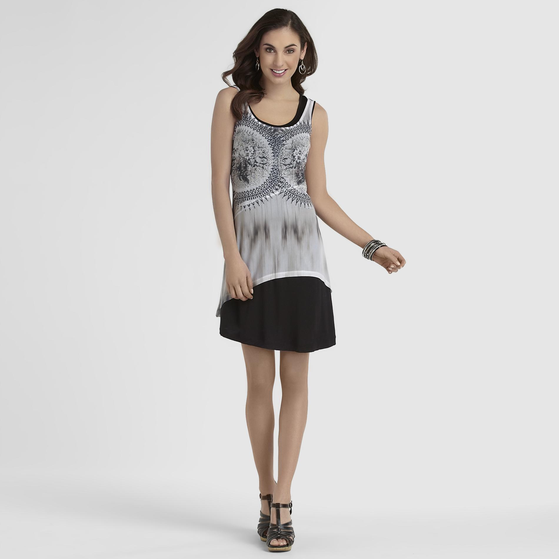 Women's Layered Sublimation Print Dress at Sears.com