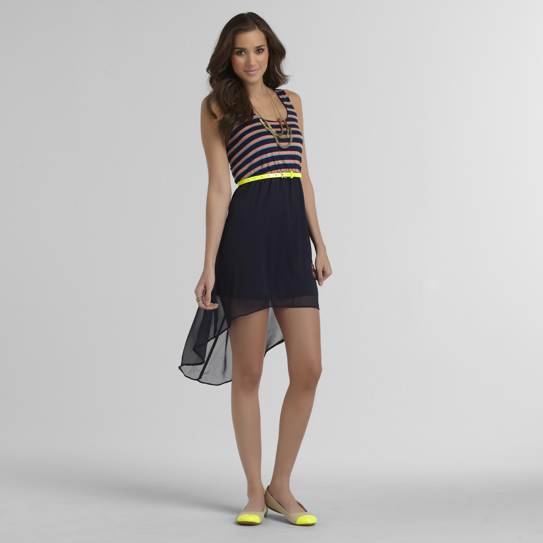 Rhapsody Junior's High-Low Tank Top Dress - Striped at Sears.com