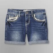 Vanilla Star Girl's Frayed Denim Shorts - Thick Stitch at Kmart.com