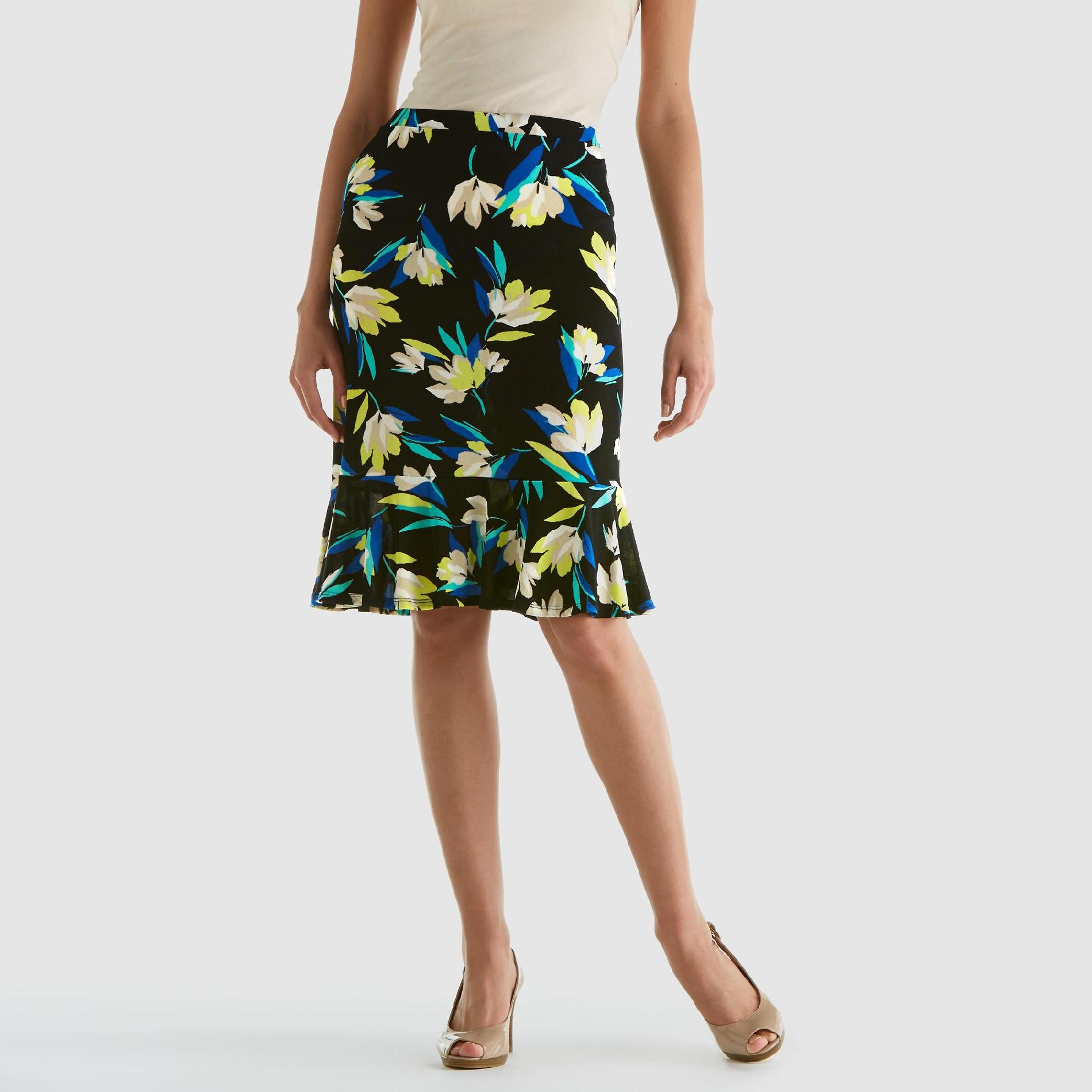 Jaclyn Smith  Women's Flounce Hem Skirt